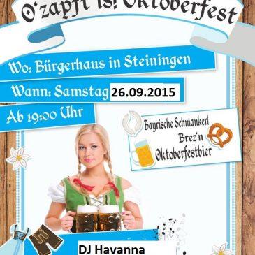Oktoberfest in Steiningen