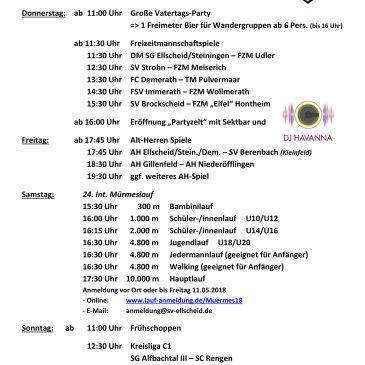 Sportfest des SV Ellscheid vom 10.05.2018 bis 13.05.2018